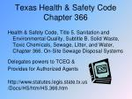 texas health safety code chapter 366