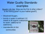 water quality standards examples
