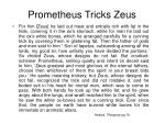 prometheus tricks zeus