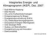 integriertes energie und klimaprogramm ikep dez 2007