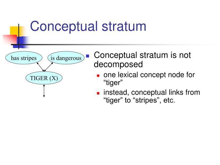 Conceptual stratum