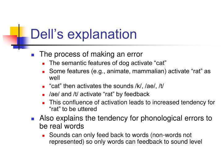 Dell's explanation