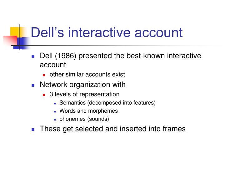 Dell's interactive account