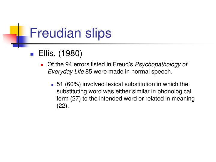 Freudian slips