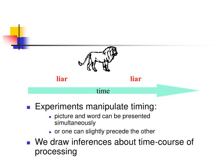 Experiments manipulate timing