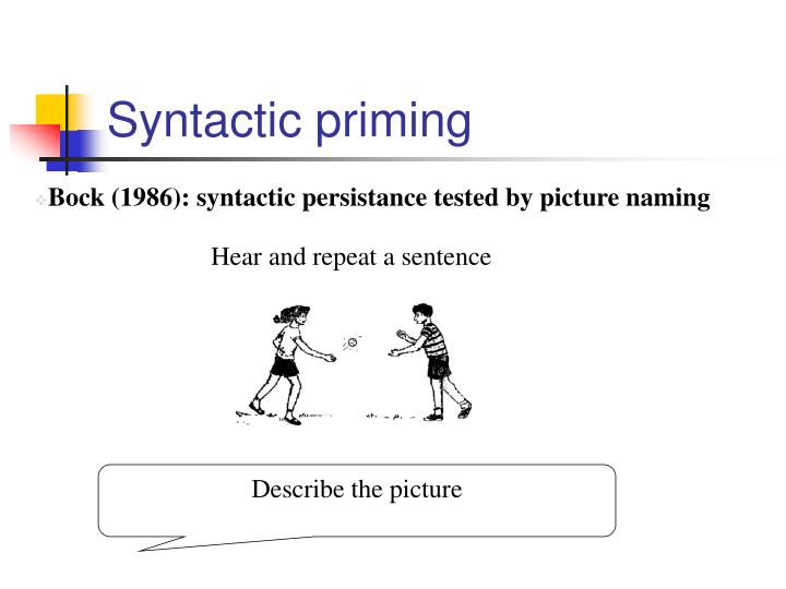 Syntactic priming