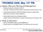 promise 2008 may 13 th pm