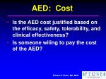 aed cost