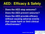 aed efficacy safety