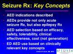seizure rx key concepts