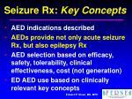 seizure rx key concepts22