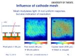influence of cathode mesh