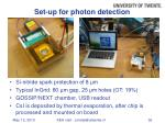 set up for photon detection