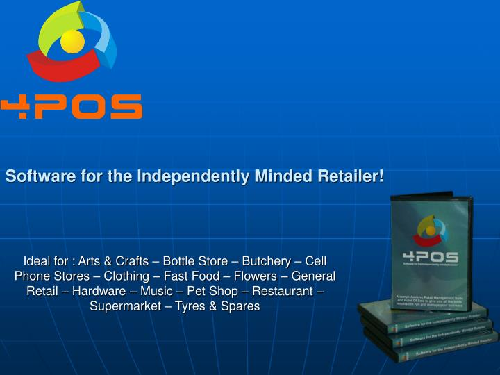 software for the independently minded retailer n.