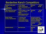 borderline ranch competitors