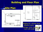 building and floor plan site plan