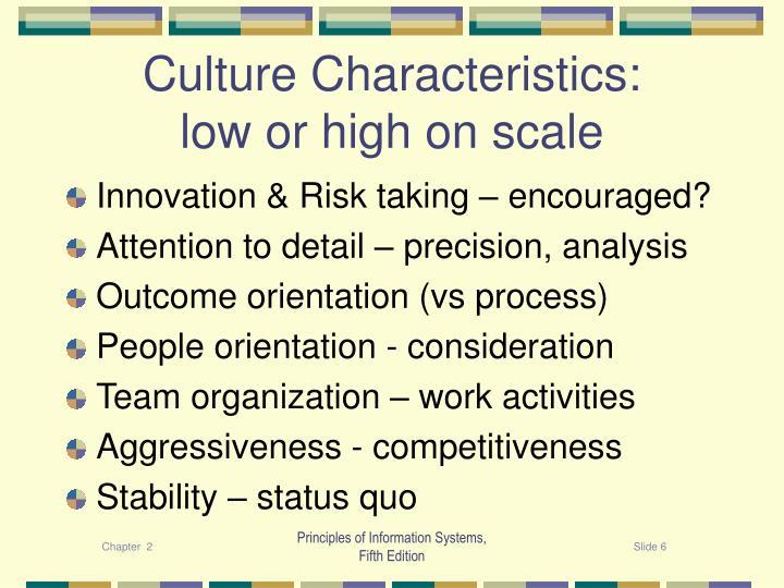 Culture Characteristics: