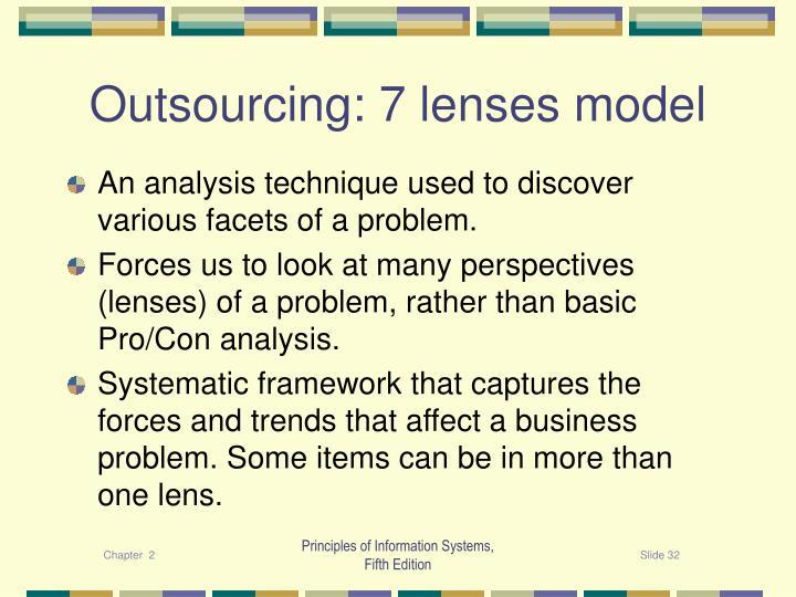 Outsourcing: 7 lenses model