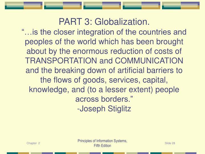 PART 3: Globalization.