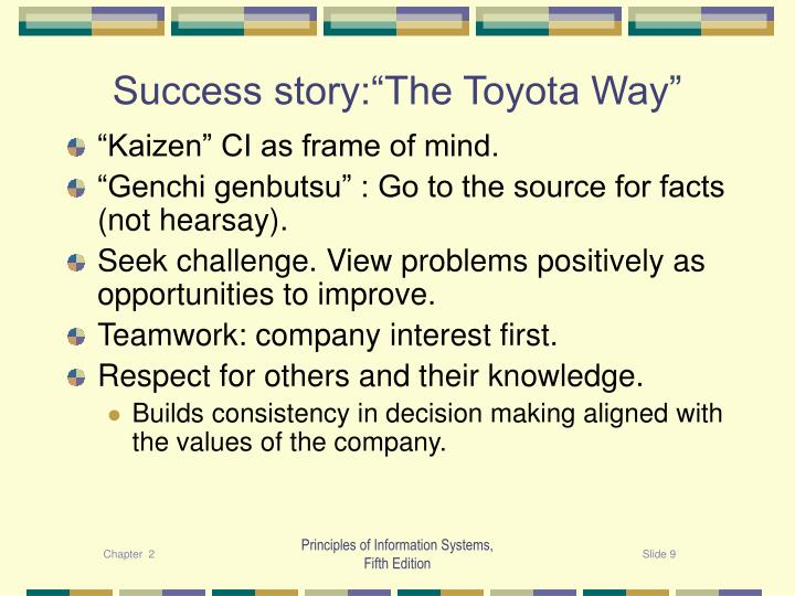 """Success story:""""The Toyota Way"""""""