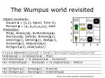 the wumpus world revisited