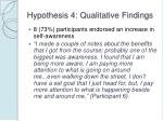 hypothesis 4 qualitative findings