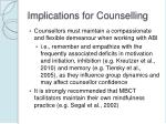 implications for counselling