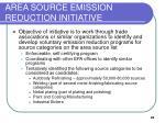 area source emission reduction initiative