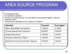 area source program