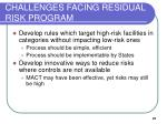 challenges facing residual risk program