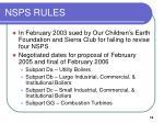 nsps rules