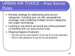 urban air toxics area source rules