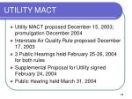 utility mact
