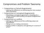 compromises and problem taxonomy