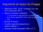 arguments en faveur du chagas