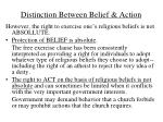 distinction between belief action
