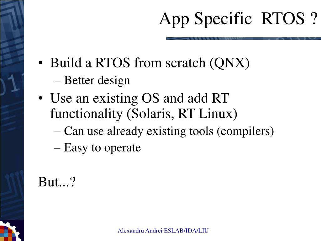 Build a RTOS from scratch (QNX)