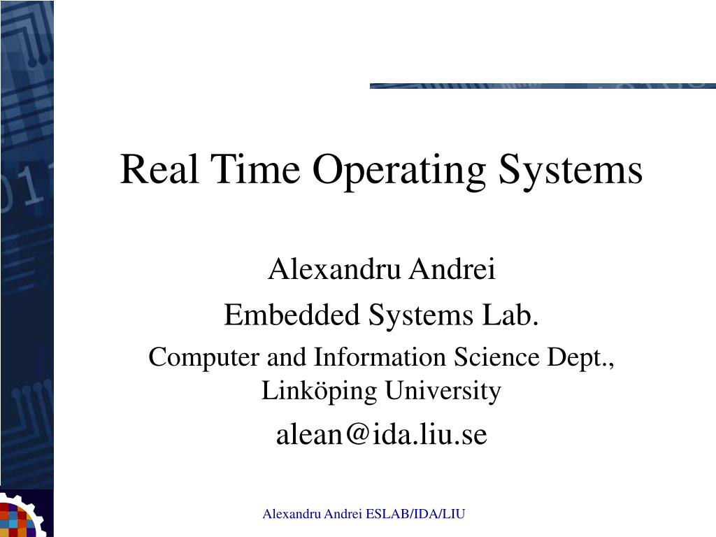Real Time Operating Systems