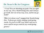 dr seuss s rx for congress