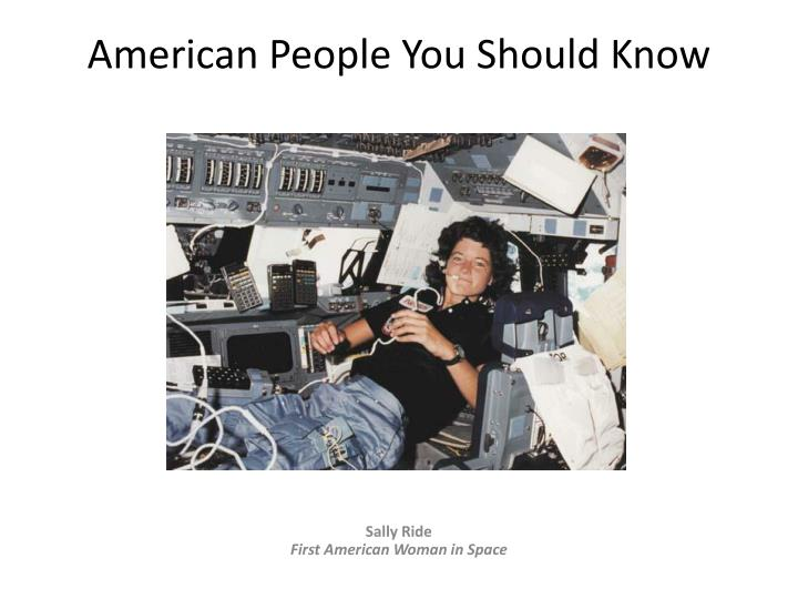 american people you should know n.
