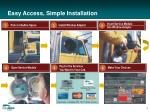 easy access simple installation
