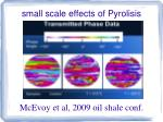 small scale effects of pyrolisis