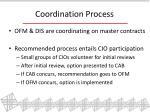 coordination process