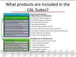 what products are included in the cal suites