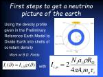 first steps to get a neutrino picture of the earth