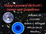 taking a picture of the earth s interior with geoneutrinos