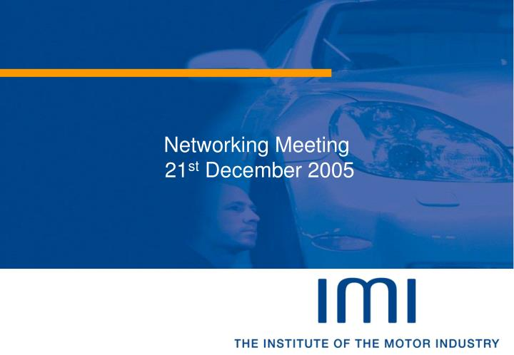 networking meeting 21 st december 2005 n.