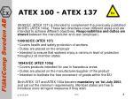 atex 100 atex 137