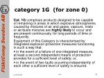 category 1g for zone 0