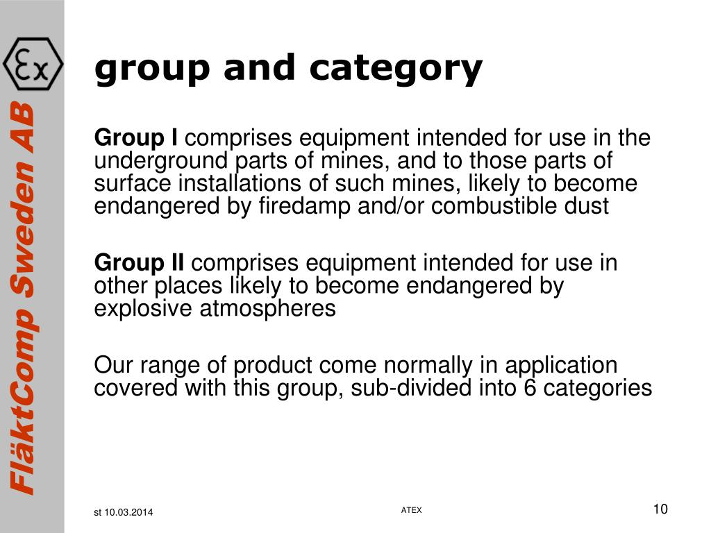 group and category